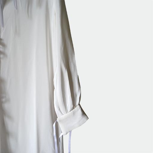 Robe longue en crêpe de chine