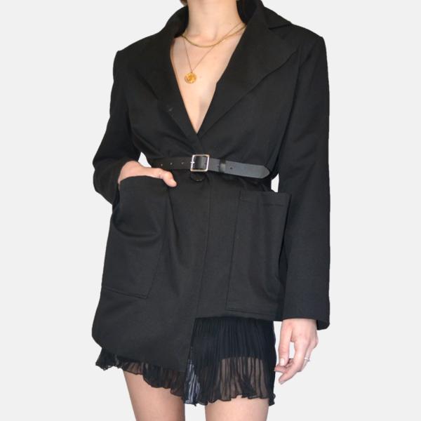 Blazer oversize noir